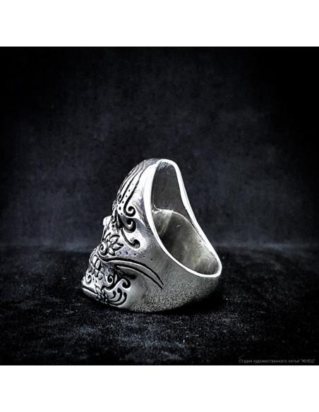 кольцо мексиканский череп Калавера